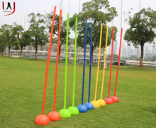 soccer football sports coaching pole sticks agility pole