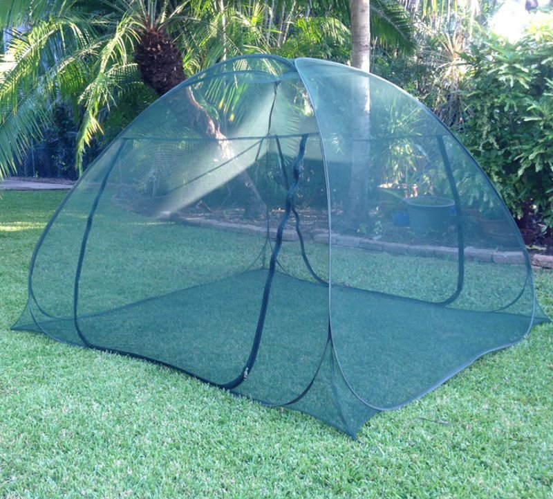 most popular insect protection stainless steel frame pop up mesh folding mosquito net tent