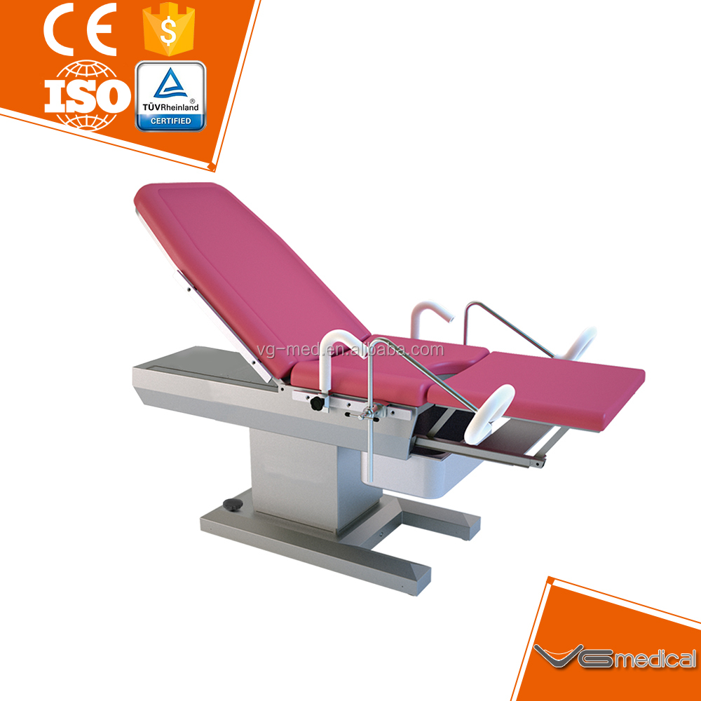 Medical gynecology examination bed electric delivery table for hospital