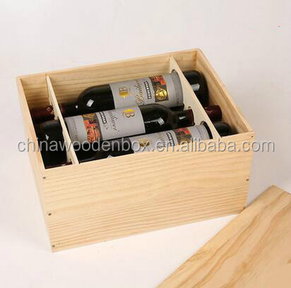 custom wooden boxes for wine glasses 6 bottles