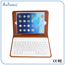 New arrival! Luxury Leather wireless bluetooth keyboard woth case for ipad air