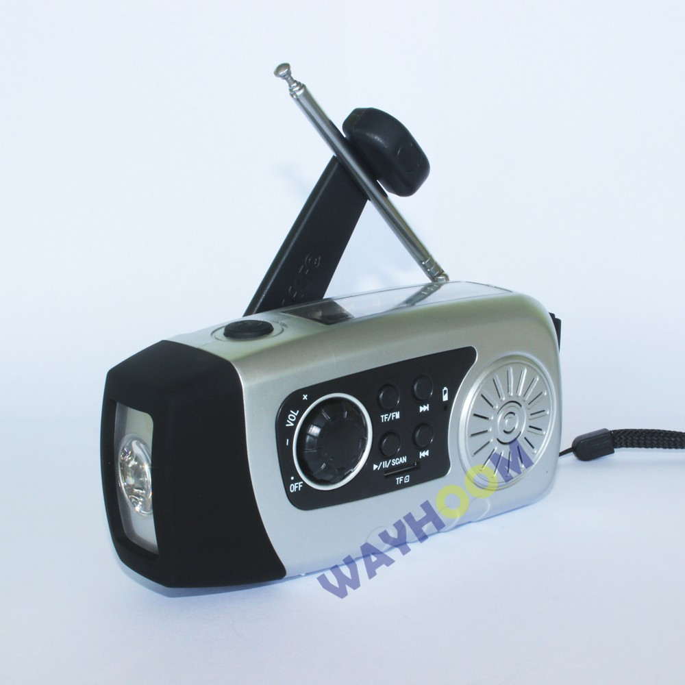 High Quality Dynamo LED Flashlight With Solar Radio Function