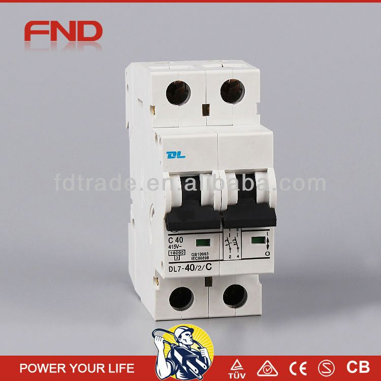 FND DL7-63 mini miniature circuit breaker/mcb/disjuntor