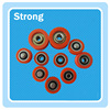 high quality round belt plastic roller wheel pulley components