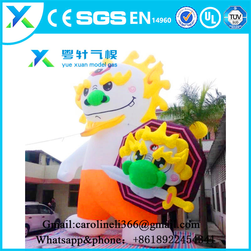 2017 new promotional products cartoon gas model giant inflatable dragon for advertising