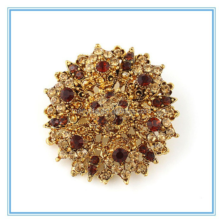 MECY LIFE wholesale fashion design cheap diamond plated snow flower brooch frames
