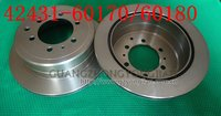 Toyota Landcruiser Rear Disc Brake Rotors 42431-60180 70 & 75 Series Toyota Landcruiser Rear Disc Brake