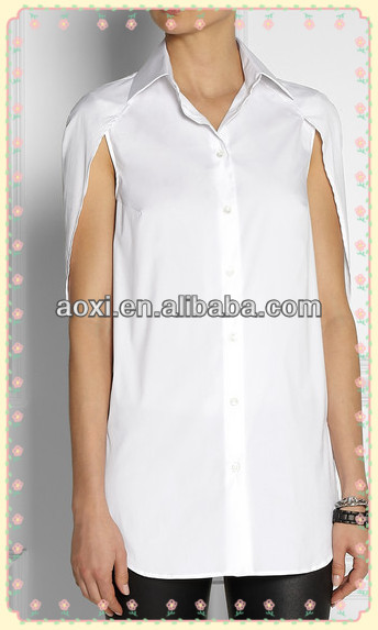 2014Summer fashion elegant lady formal blouse and women short sleeves slim-fit top