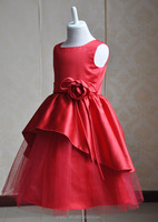 Hot Red bulk wholesale clothing, fashion baby clothes wholesale, princess flower girl dress