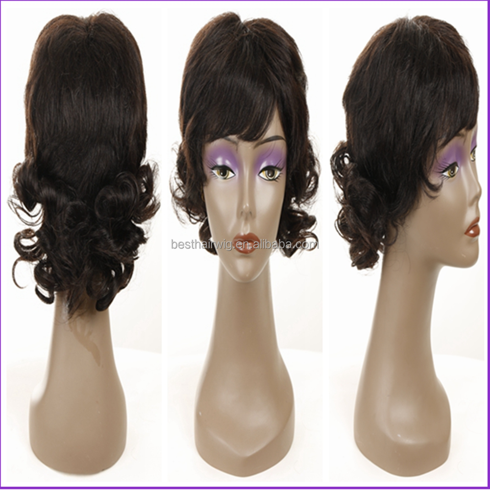 New Design Top Natural Looking 100% Human Hair Wigs Machinc Made Wigs