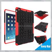 Heavy Duty Shockproof Rugged Impact Bumpy Grip 2 in 1 Armor Hybrid Combo Anti-shock Case for Ipad 5