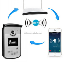 Wireless IP Digital Camera Wifi Video Door Phone Doorbell Intercom support to answer door bell on smart phone