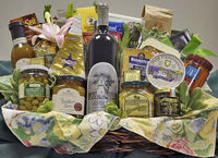 Promotion wine cheese crackers gift basket