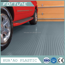 Portable plastic ground protection mat/ anti-aging polyethylene sheet car floor mat