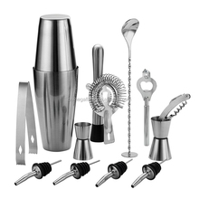 800ML Stainless Steel Boston Shaker Set & Professional Bartender Cocktail Shaker With Jigger And Filter