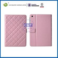 C&T Pink pu leather case cover stand for apple/ ipad mini 7.9' tablet