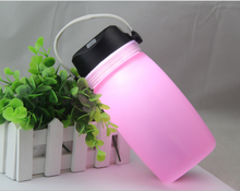 2018 Alibaba best sellers 500ml silicone solar lighting water bottle