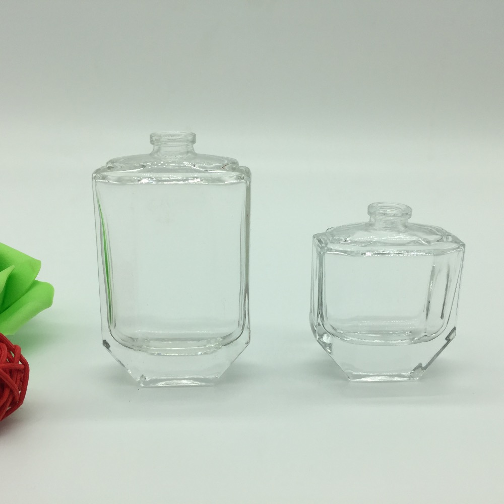 Trust supplier MIP offering 30ml/50ml charming high light quality perfume glass bottle with deep processing