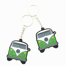 Factory price best quality personalize small portable newest design beautiful cute pattren multicolor pvc keychain