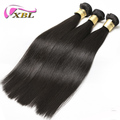 XBL wholesale no shed brazilian virgin remy human hair silk straight hair