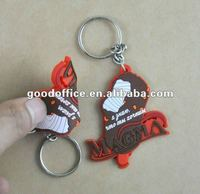 2012 fashion 3d soft pvc Keychain