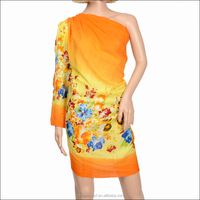 Fashion sex sarong dress with flower design for lady