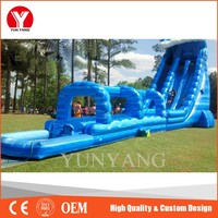 Commercial pvc inflatable dual lane waterslide