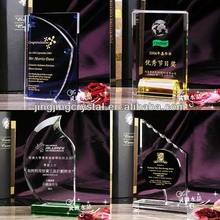 Elaborate Customize Crysal Trophy 3D laser / Frosted LOGO accepted crystal trophy
