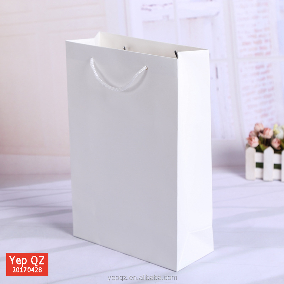 China factory custom logo cloth shop loved cheap white paper bag