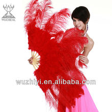 Belly Dance Costume Feather Fans, Performance Qstrich Feather Fan for Dancer (DJ1003)