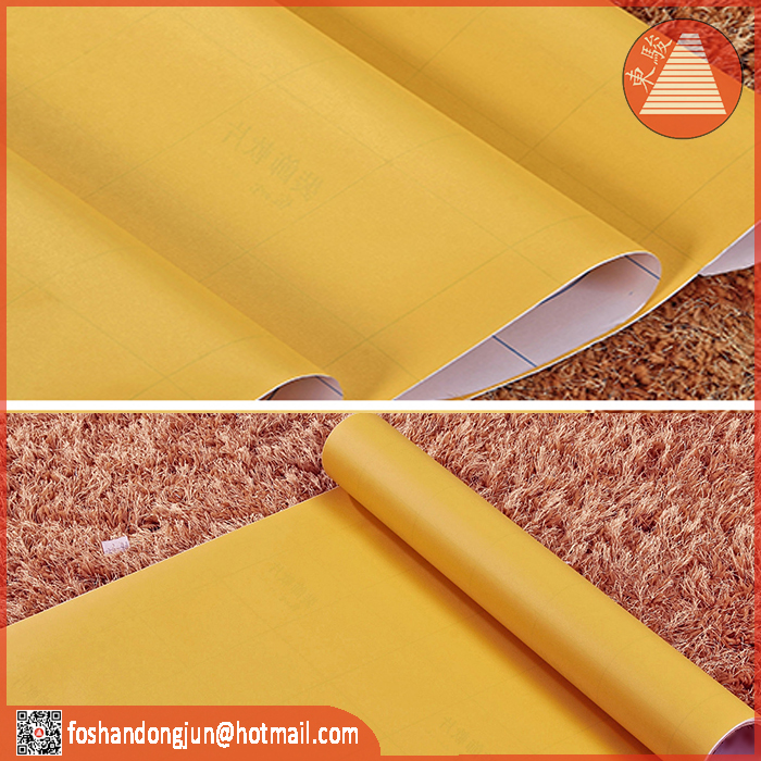 Solid color decorative PVC plastic film