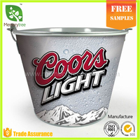 5L Bottle Opener Beer Cooler Tin Tinplate Galvanized Metal Ice Bucket
