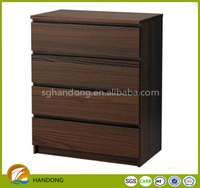 Wooden Classic Walnut-ash Chest Of Drawers Storage Cabinet