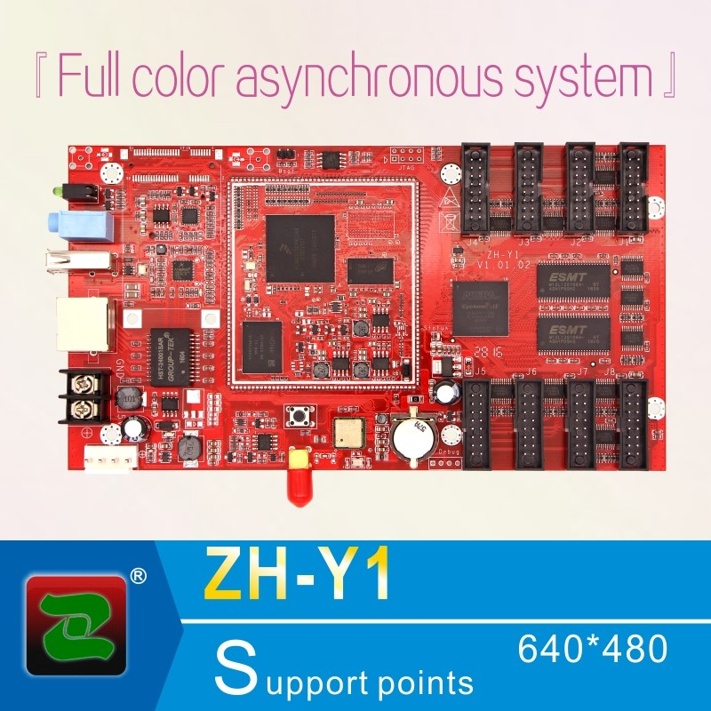 ZH full color video 8G memory led asynchronous display controller ZH-Y1