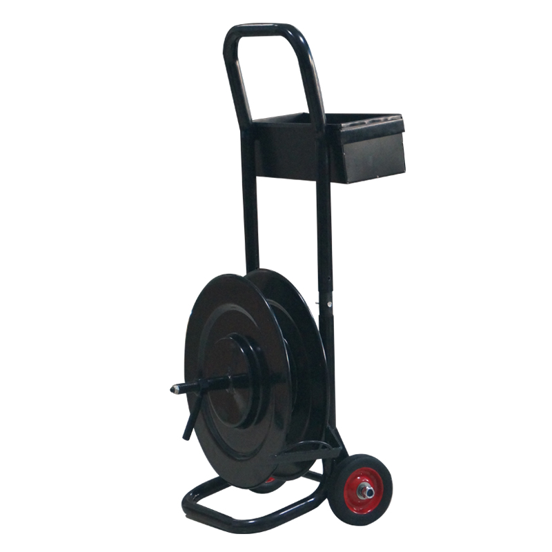 Hand steel strapping dispenser cart