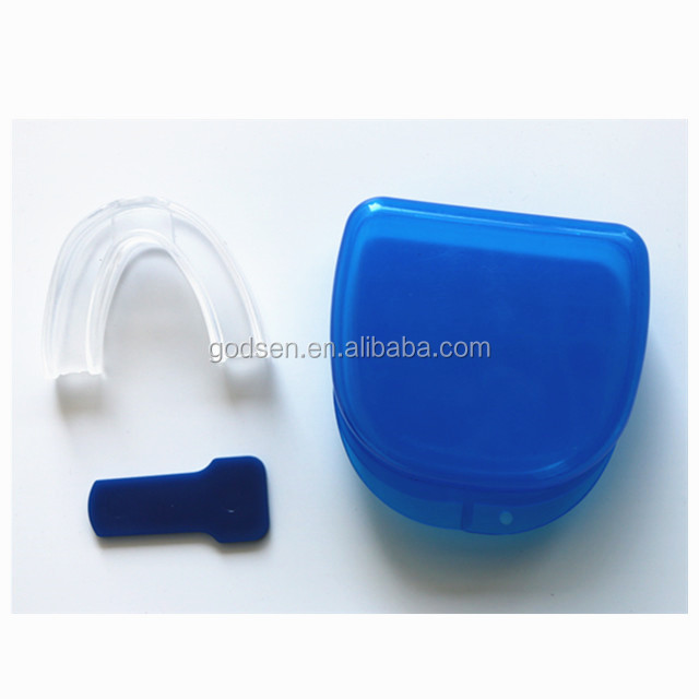 health products plastic box clear silicone stop snoring anti snore mouthpiece
