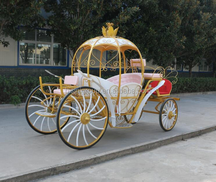 Wedding horse carriage for sale wedding lighted cinderella carriage(BG11-M076)