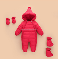 fashion winter plain warm infants and toddlers snowsuit baby down rompers baby winter rompers