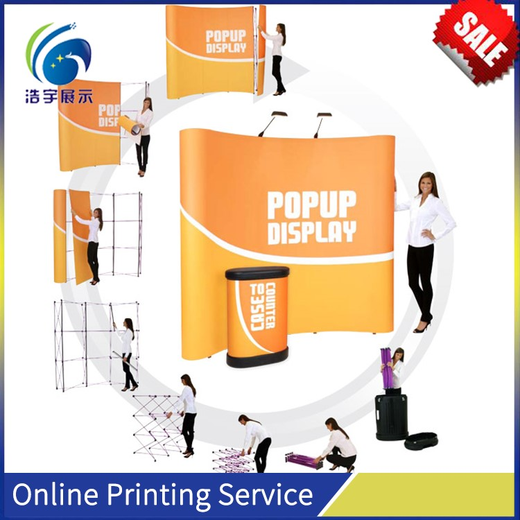 Hot sale Lightweight tension Fabric Pop Up Trade Show Booth Display