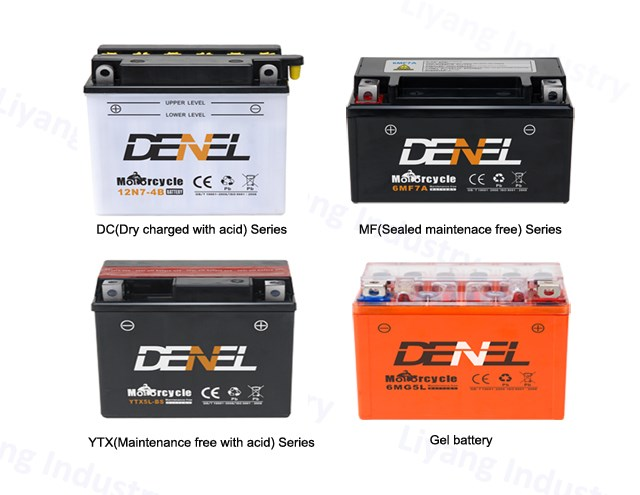 6-MQA-28 three wheel cargo battery dry charged motorcycle battery