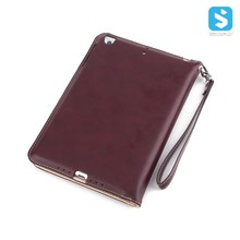 Hot sales Hand Strap Card Slot Stand PU tablet Case for iPad Mini 2 / 3
