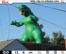 Green giant charming promotional inflatable dinosaur cartoon