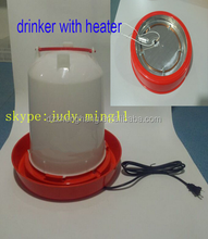 11L drinker with heater for cold weather chicken feeders and drinkers
