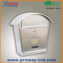modern stainless steel mailbox with window