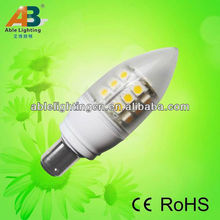 3.8w dimmable led light bulb warm white 5050-24smd high bright andle led light 350lm 80cri b15d spotlight ac