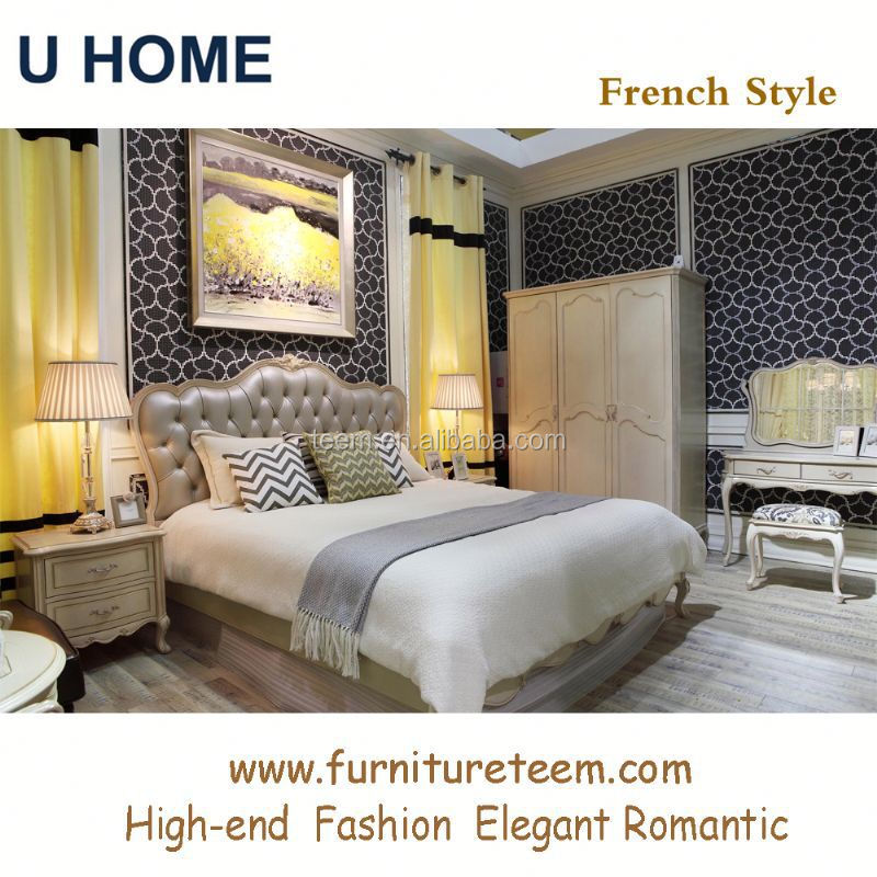 Com Solid Wood Home Furniture Bedroom Antique White Bedroom