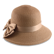Drinking straw hat stain flower to decorate paper straw bucket hat