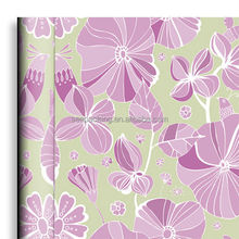 Self adhesive decorative flowers modern chinese pvc light purple wallpaper