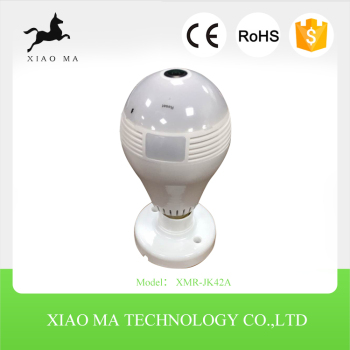 bulb shape wifi hidden camera night light led light camera XMR-JK42A