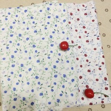 Wholesale poplin 100 cotton textile blue and red rose printed fabric